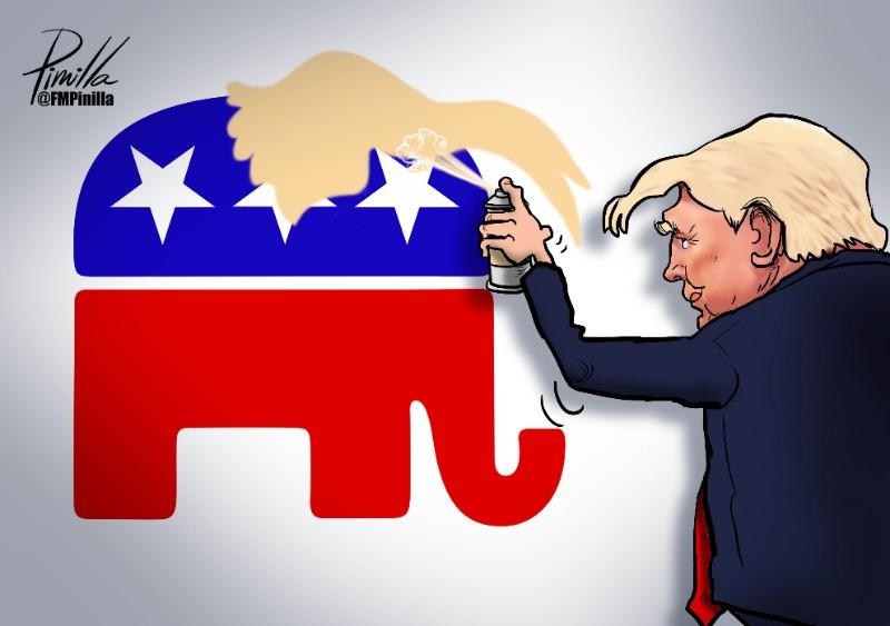 Caricatura | Donald y su partido