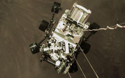 La NASA compartió el primer video del rover Perseverance aterrizando en Marte