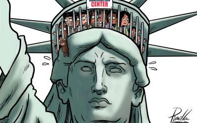 Caricatura   Niños migrantes no acompañados