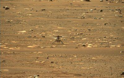 La NASA voló un helicóptero por primera vez sobre Marte