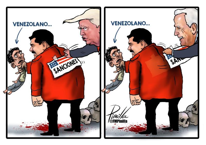 CARICATURA   Sanciones a Venezuela