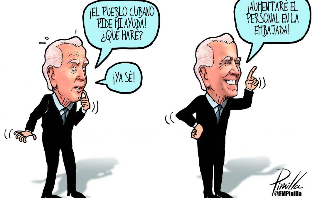Caricatura   Biden y Cuba