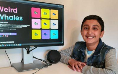 El niño que ganó casi US$400.000 durante las vacaciones escolares creando imágenes digitales de ballenas