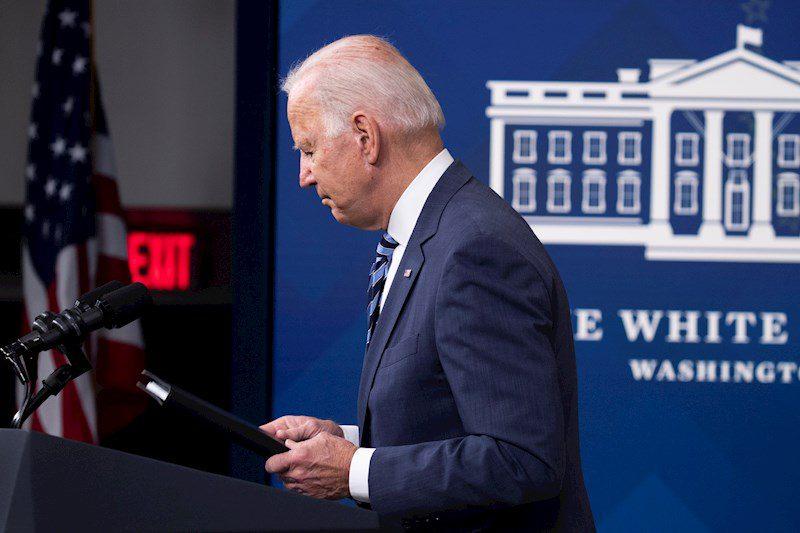 Joe Biden en conferencia de prensa desde la Casa Blanca