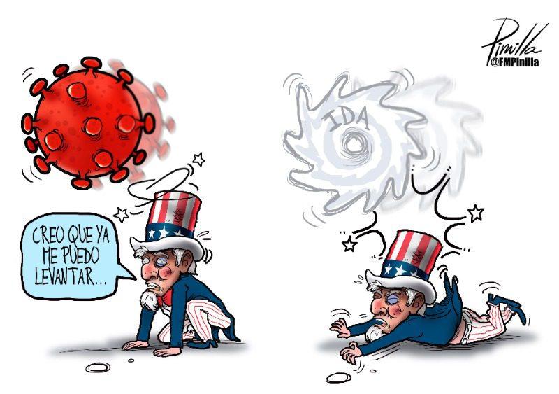 Caricatura | Ida y EEUU