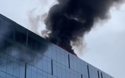 Se incendió el techo del nuevo edificio del Metro en Washington DC