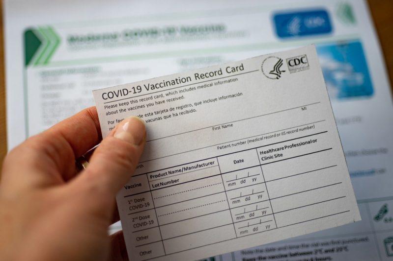 Certificado de vacunación CDC