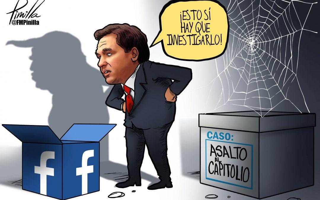 Caricatura | DeSantis y Facebook