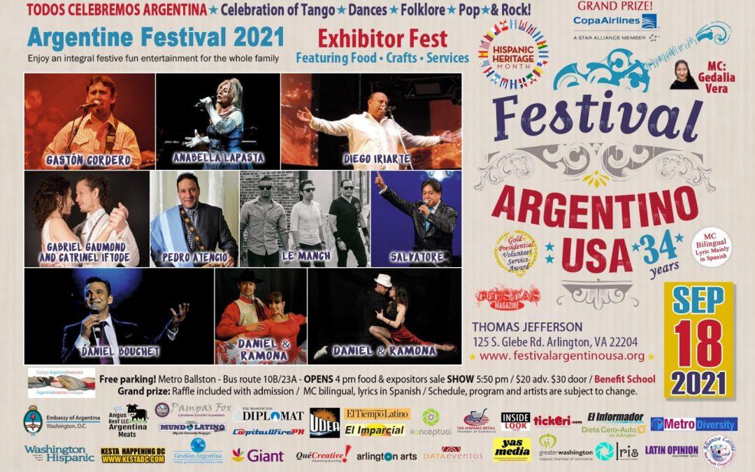 El Festival Argentino 2021 llega este sábado a Arlington, Virginia