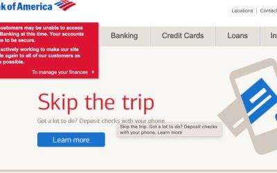 Plataformas de Bank of America y Zelle están caídas, reportan usuarios