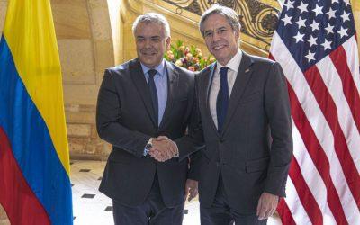 Narcotráfico y migración: la agenda del Secretario de Estado Blinken en Colombia
