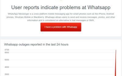 WhatsApp, Instagram y Facebook  cumplen tres horas fuera de servicio